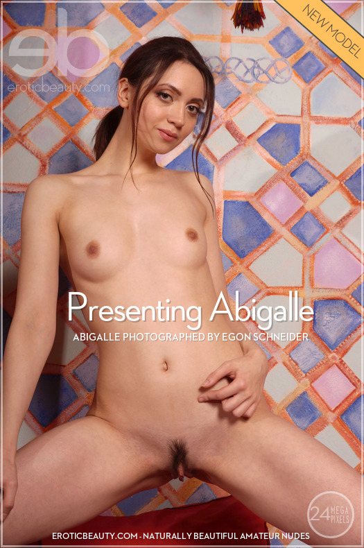 On the magazine cover of Presenting Abigalle Erotic Beauty is surprising Abigalle