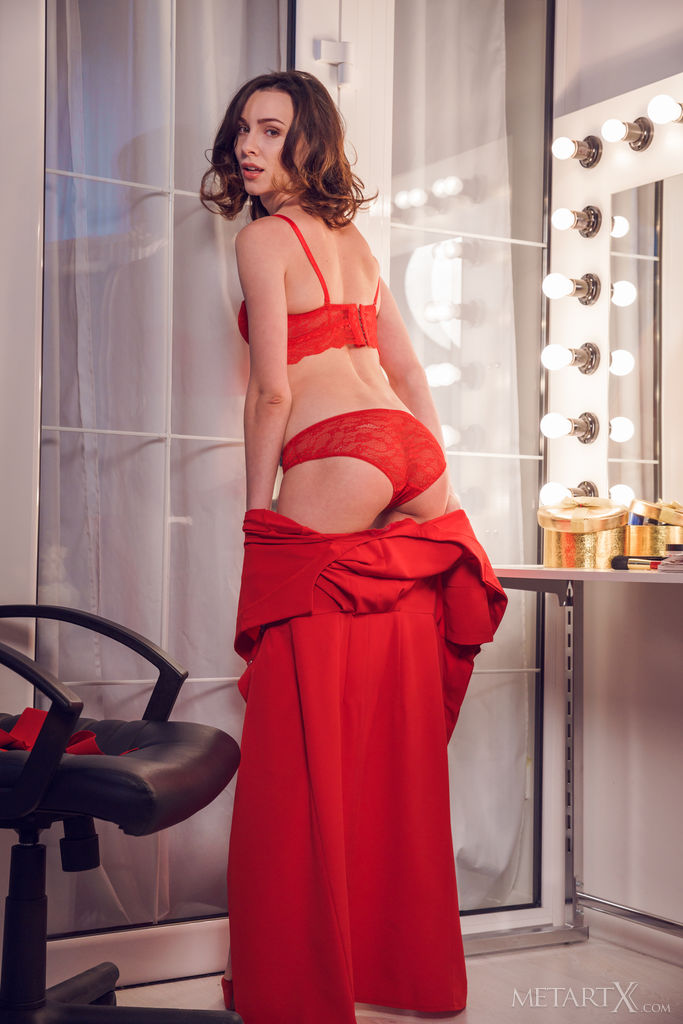 Lady In Red 1 MetArt X is bewildering Adel Morel