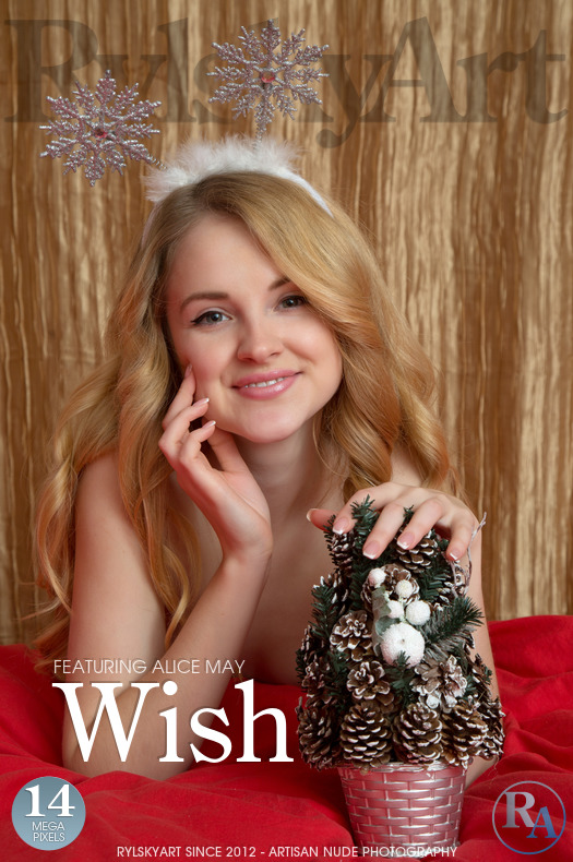On the magazine cover of Wish Rylsky Art is overwhelming Alice May