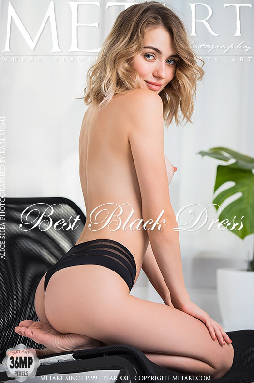 On the cover of Best Black Dress MetArt is moving Alice Shea