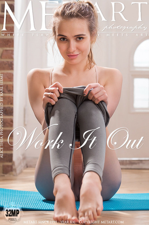 On the cover of Work It Out MetArt is stunning Alice Shea