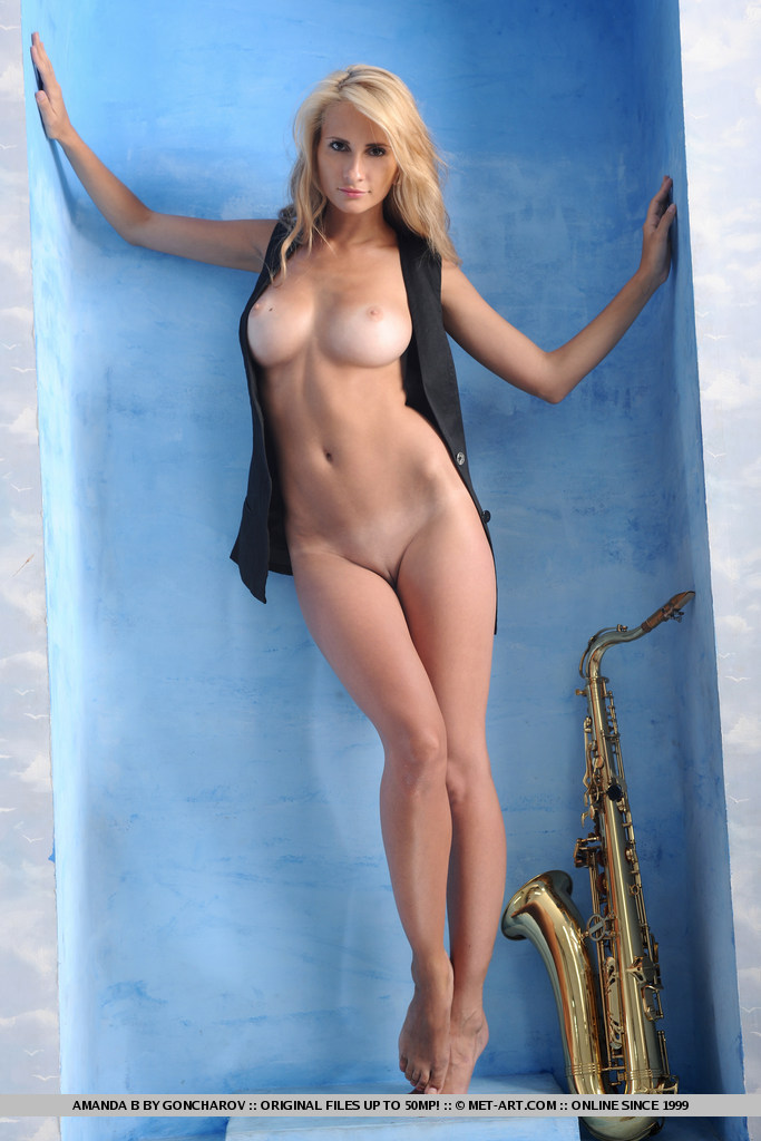 This young lady has big breasts and Blonde hair