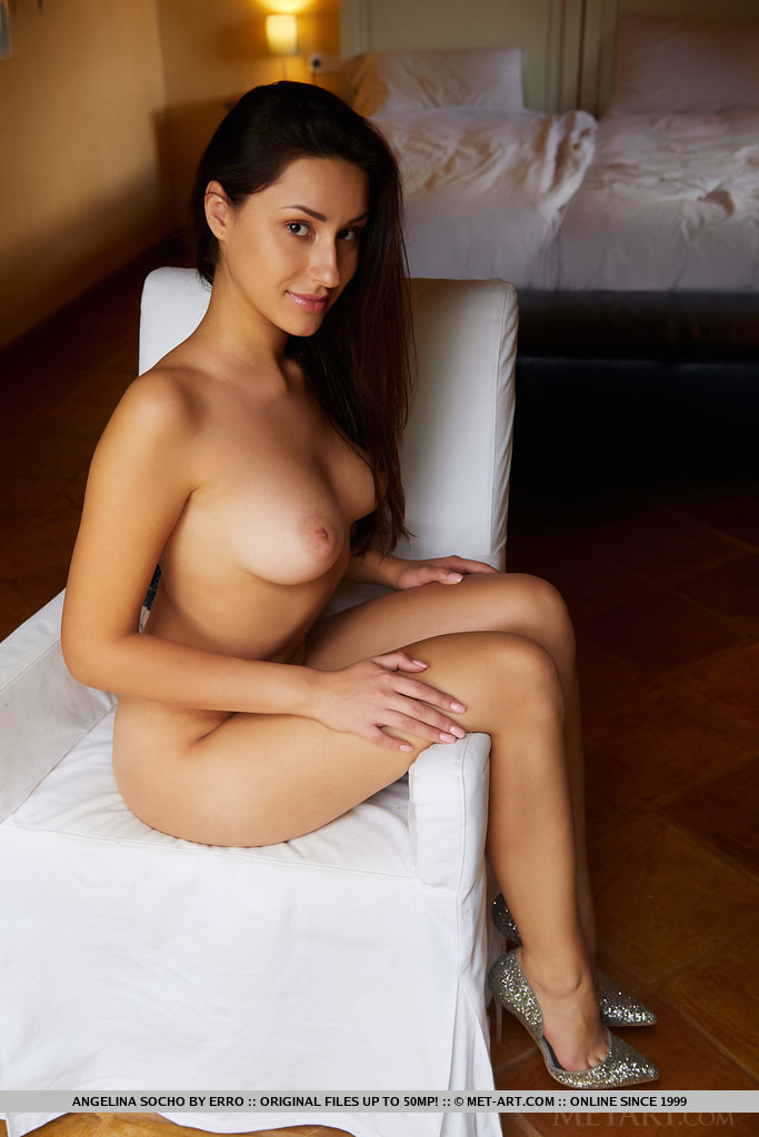 This girl has disrobed large breasts and Brown hair, Brown eye