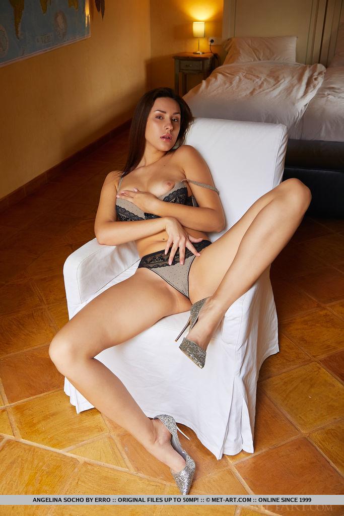 disrobed large titties shot