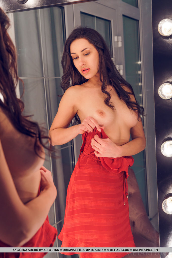 Best lofty model Angelina Socho in unclothed sessions
