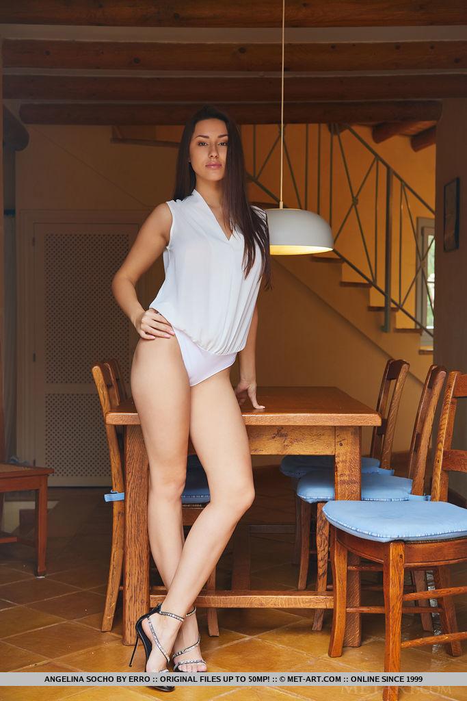 Angelina Socho in dishabille pix