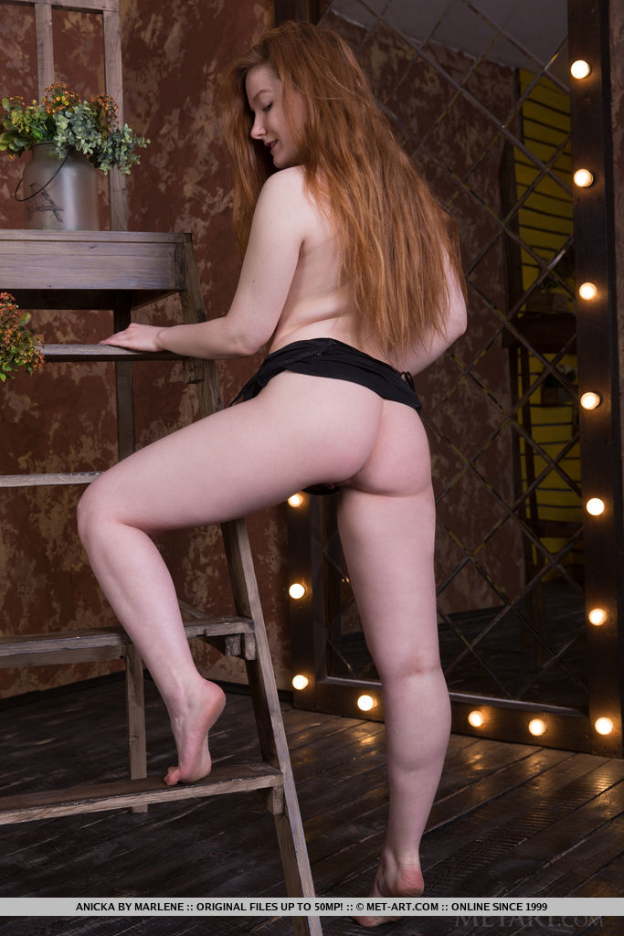 Best elevated model Anicka in disrobed sessions