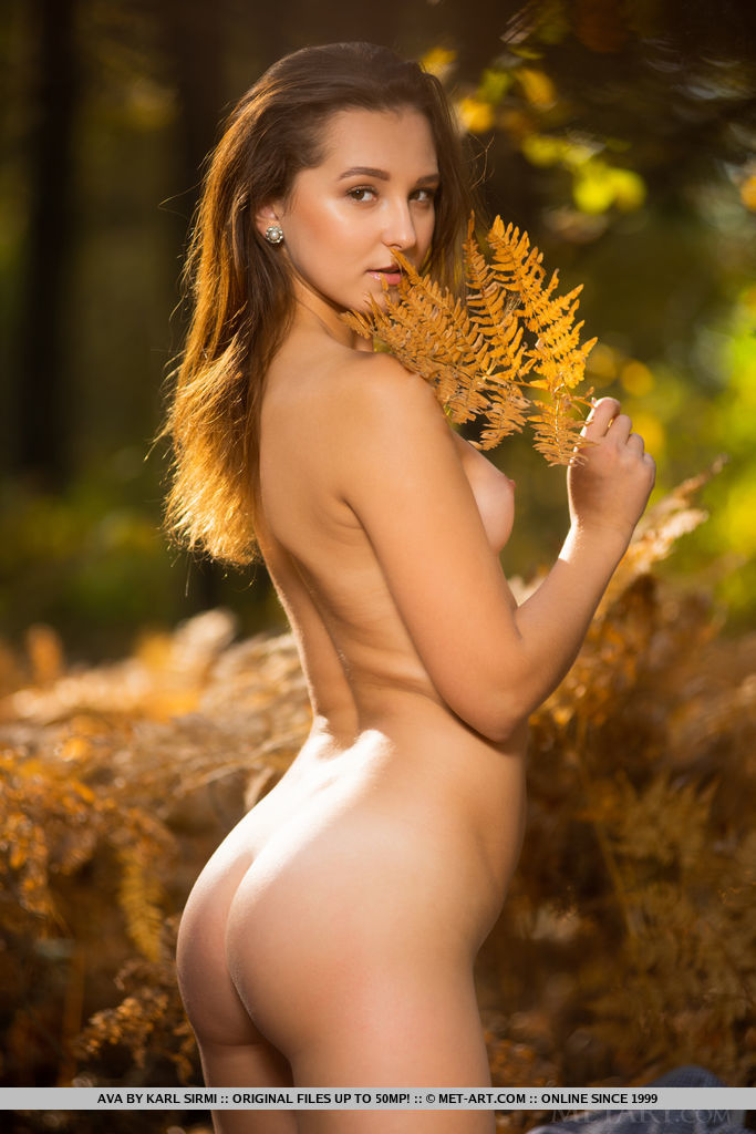 Ava in stimulating photo sessions for freebie