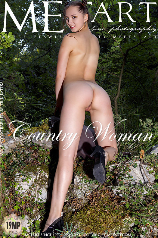 On the magazine cover of Country Woman MetArt is stunning Ava
