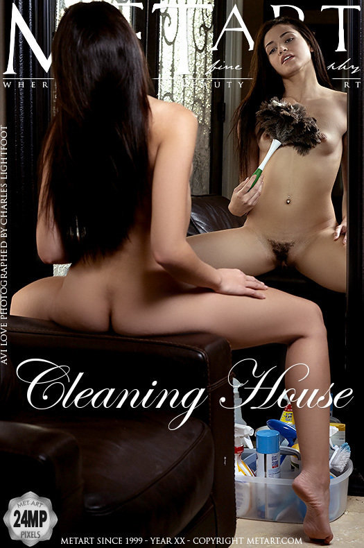 On the magazine cover of Cleaning House MetArt is incredible Avi Love
