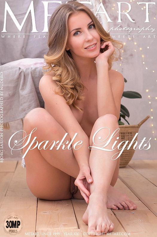 On the magazine cover of Sparkle Lights MetArt is staggering Bjorg Larson
