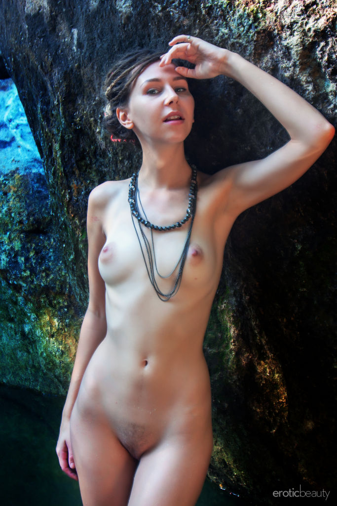 This young lady has stripped small breasts image