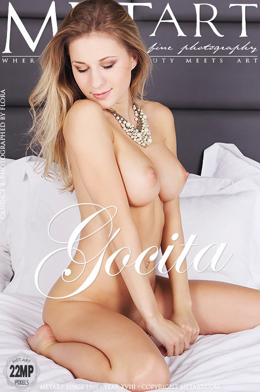 On the magazine cover of Gocita MetArt is wonderful Candice B