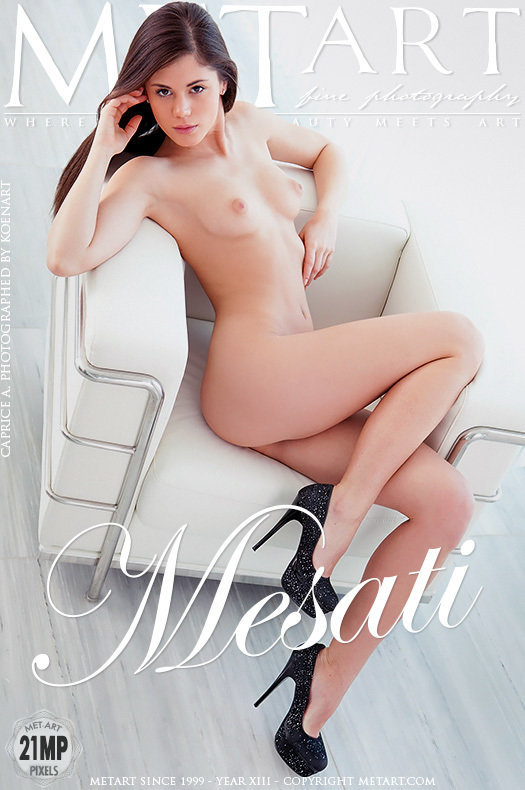 On the magazine cover of Mesati MetArt is amazing Caprice A