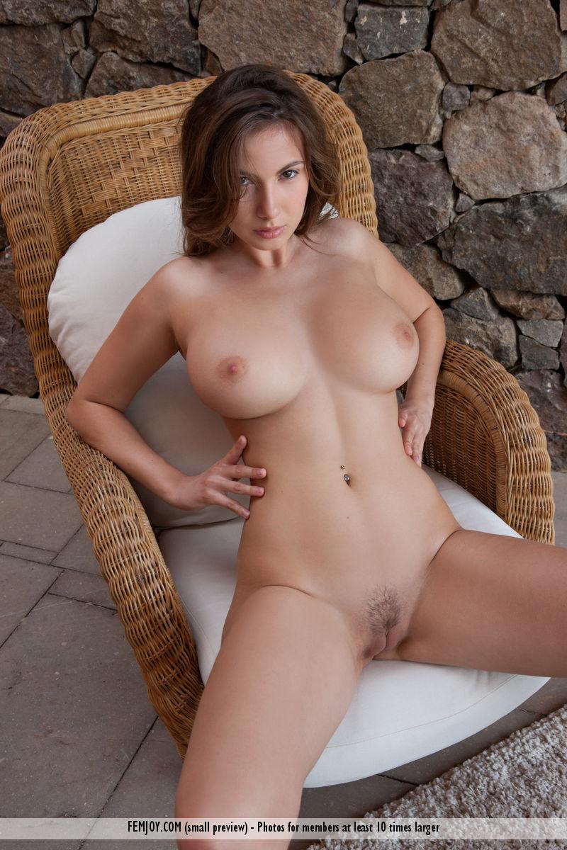 This girl has lascivious big boobs slide