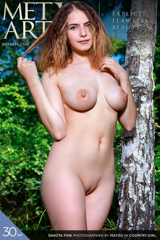On the magazine cover of Country Girl MetArt X is incredible Dakota Pink