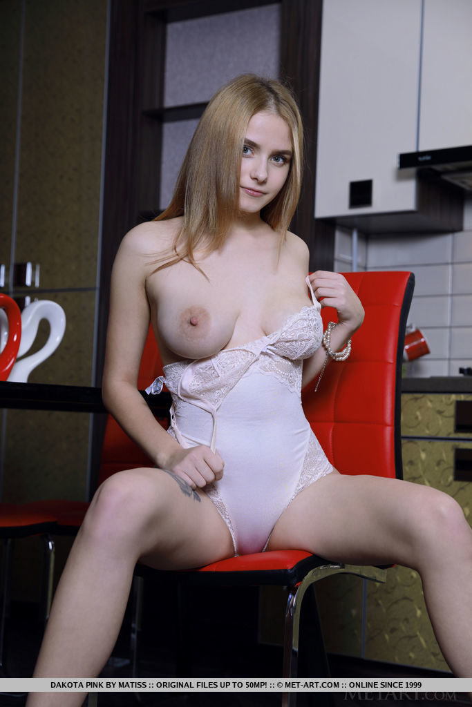 Model of Dakota Pink in in the altogether sessions