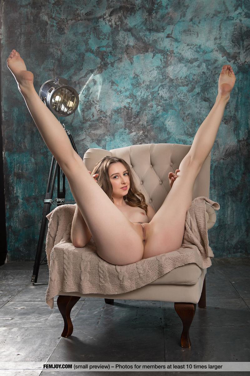 This girl has sensual small titties portrait