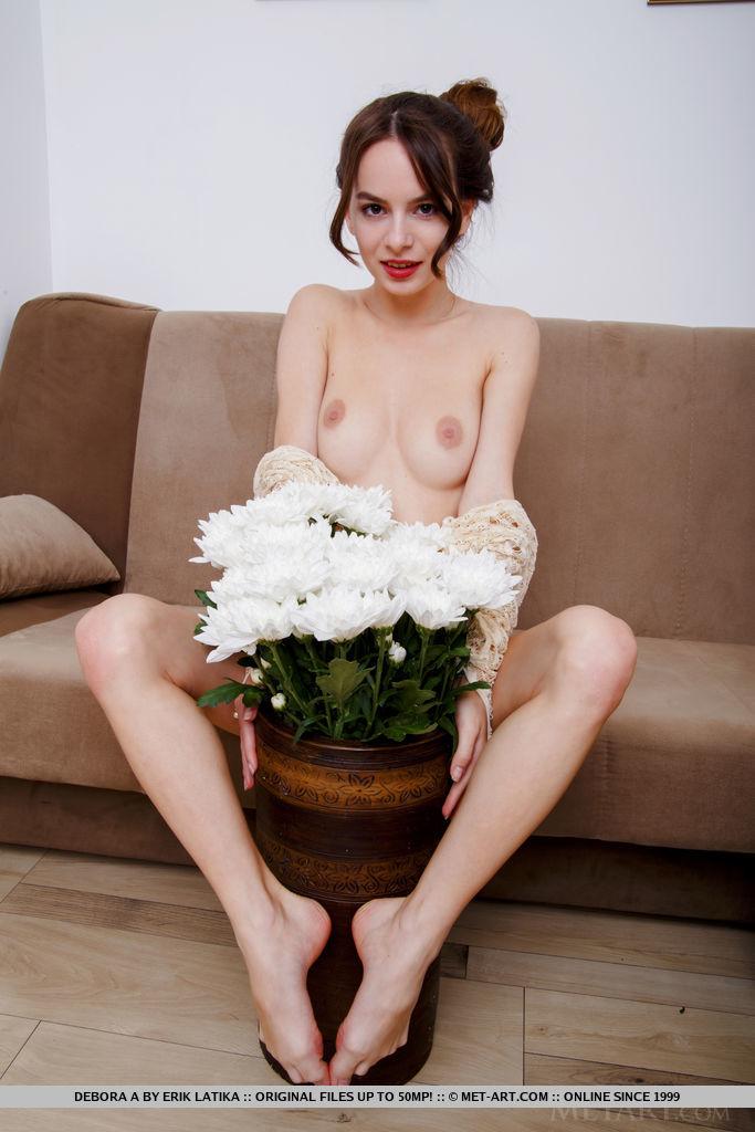 Debora A medium natural boobs image