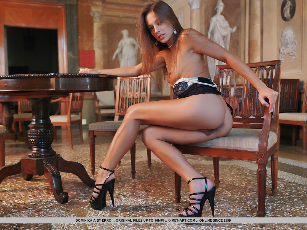Dominika A in alluring photo sessions for gratuitous