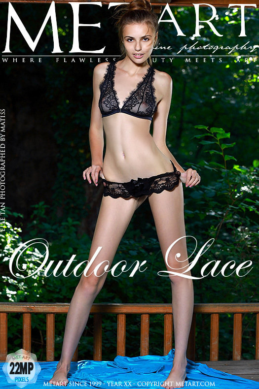 On the cover of Outdoor Lace MetArt is spine-tingling Elle Tan