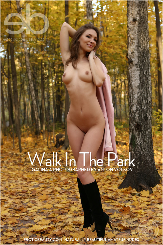 On the cover of Walk In The Park Erotic Beauty is heavenly Galina A