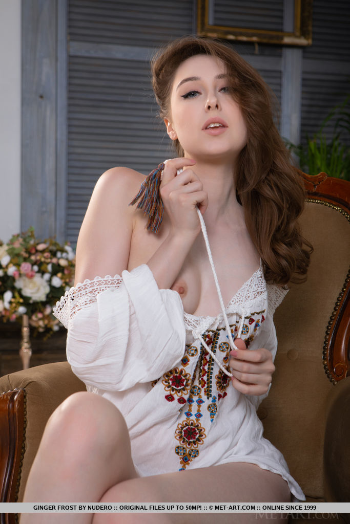 Ginger Frost in undraped snap