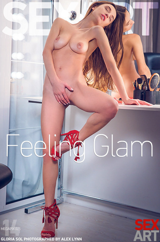 On the cover of Feeling Glam SexArt is amazing Gloria Sol