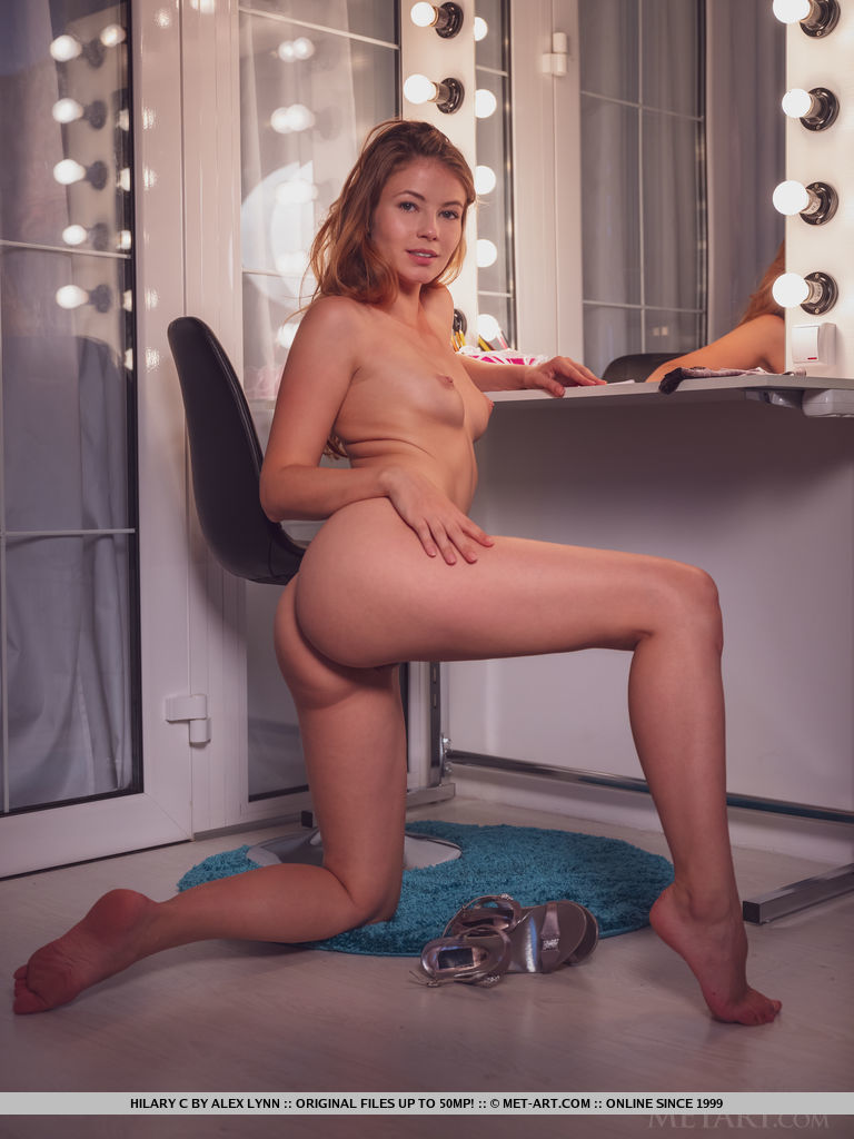 Model of Hilary C in dishabille sessions