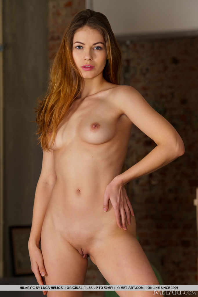 This damsel has magnificent medium natural breasts and Brown hair, Green eye