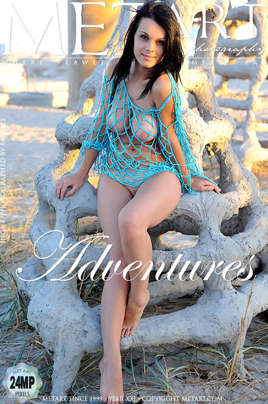 On the magazine cover of Adventures MetArt is staggering Inga E
