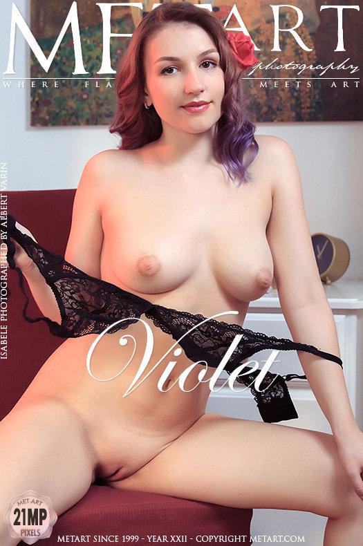 On the magazine cover of Violet MetArt is stupefying Isabele