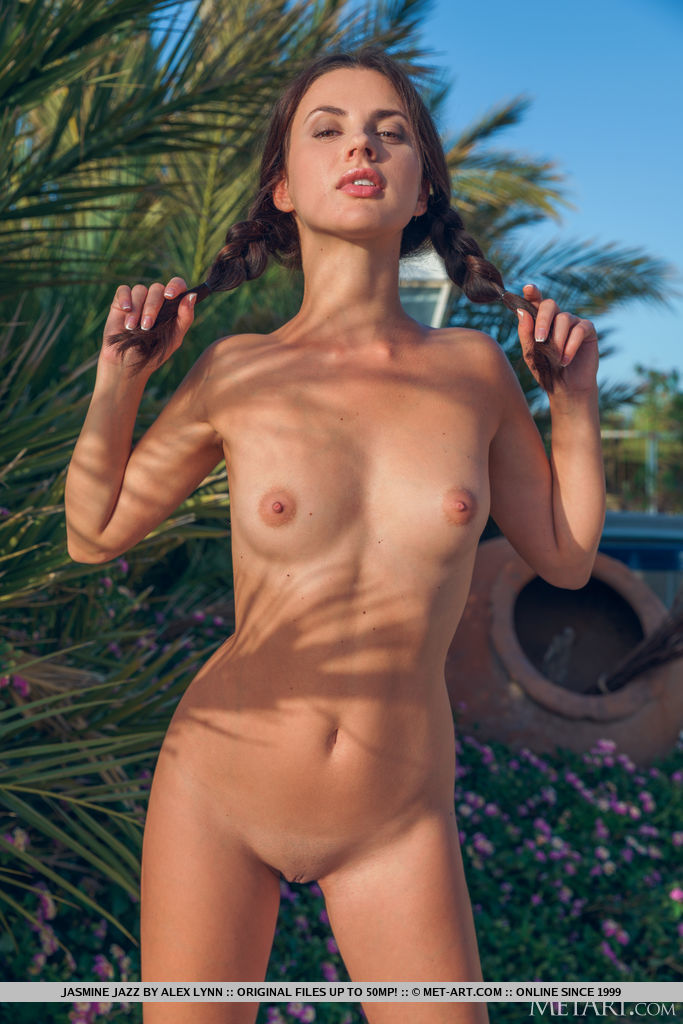 Jasmine Jazz alluring medium natural boobs picture