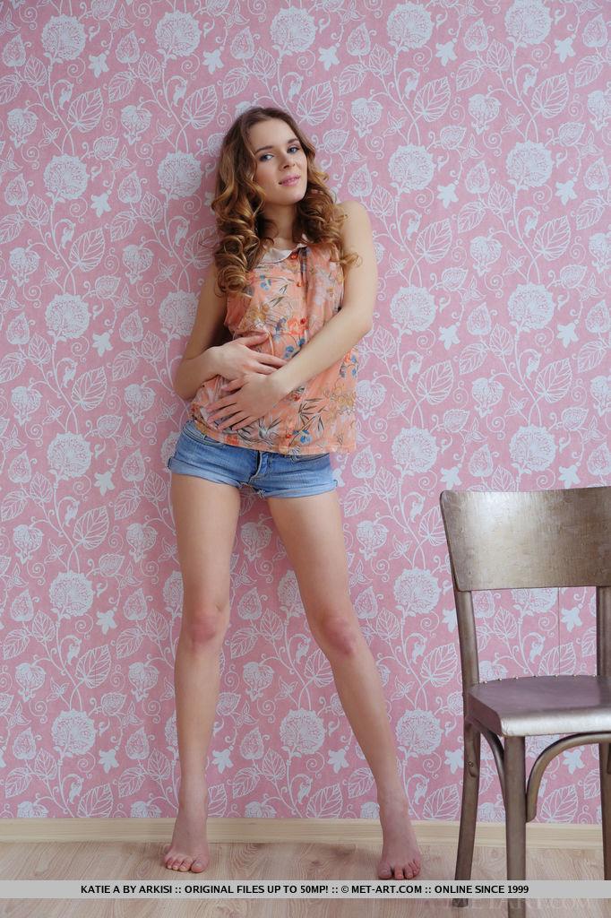 Katie A in flirtatious photo sessions for gratuitous