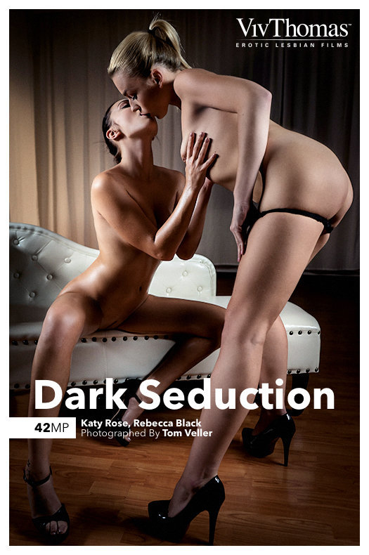On the cover of Dark Seduction Viv Thomas is overwhelming Katy Rose, Rebecca Black