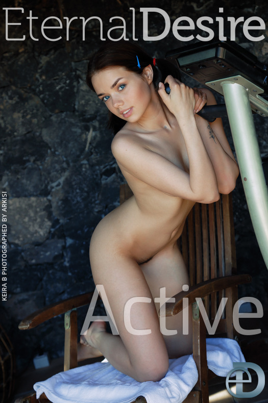 On the magazine cover of Active Eternal Desire is bewildering Keira B
