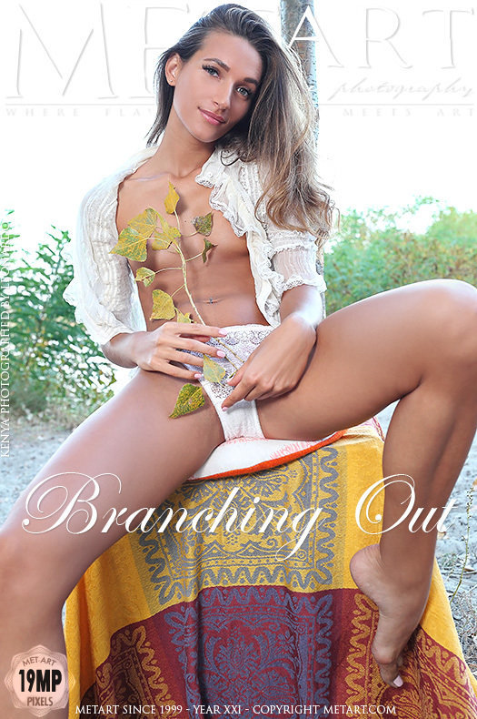 On the cover of Branching Out MetArt is stunning Kenya