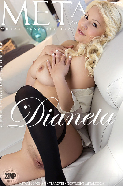 On the magazine cover of Dianeta MetArt is fascinating Kylie Page