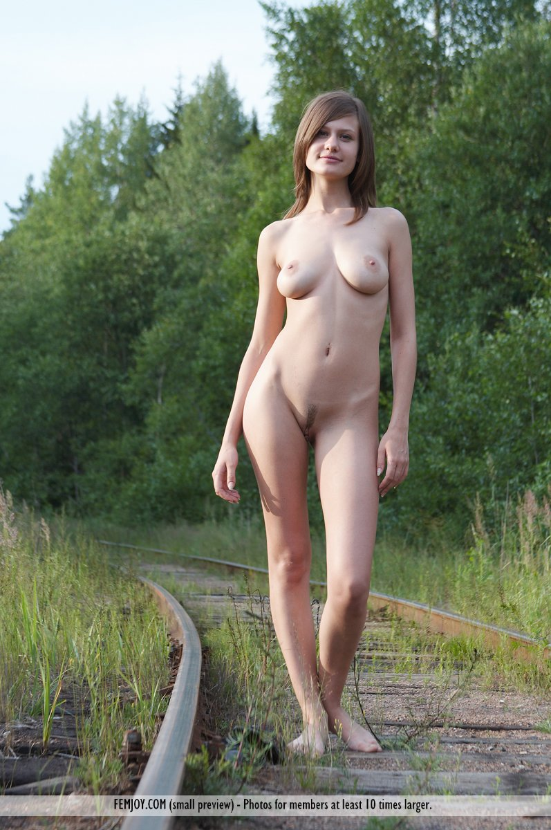 On the cover of Railway Picnic FemJoy is breathtaking Lea