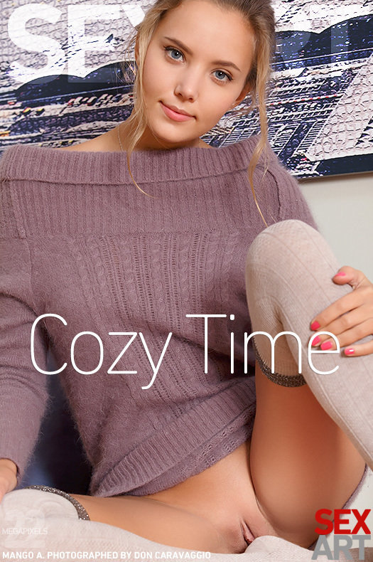 On the magazine cover of Cozy Time SexArt is celestial Mango A