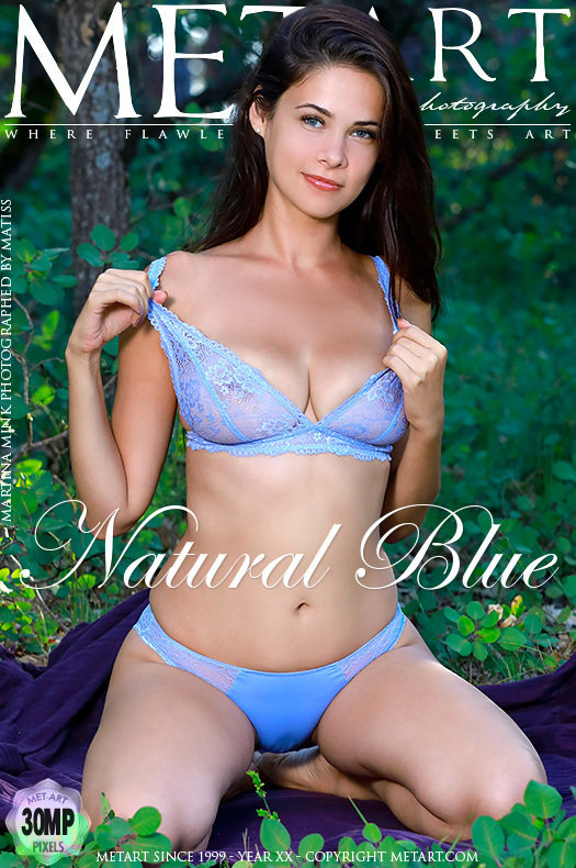 On the cover of Natural Blue MetArt is exalted Martina Mink