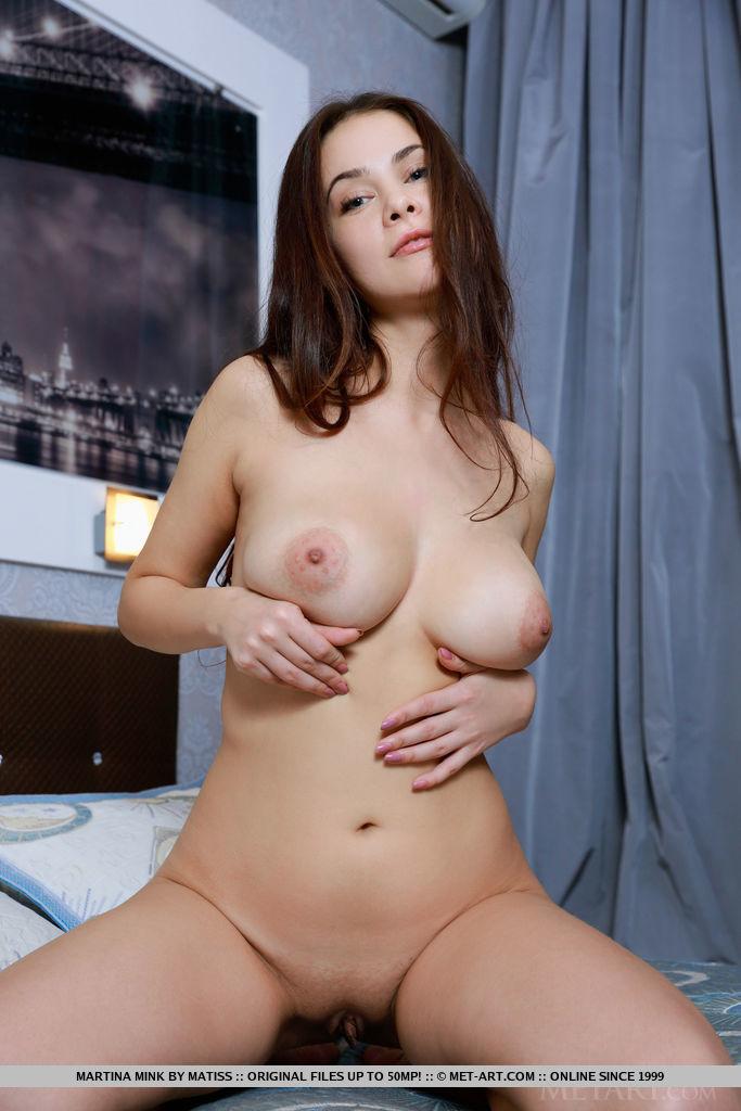 Martina Mink in stripped slide