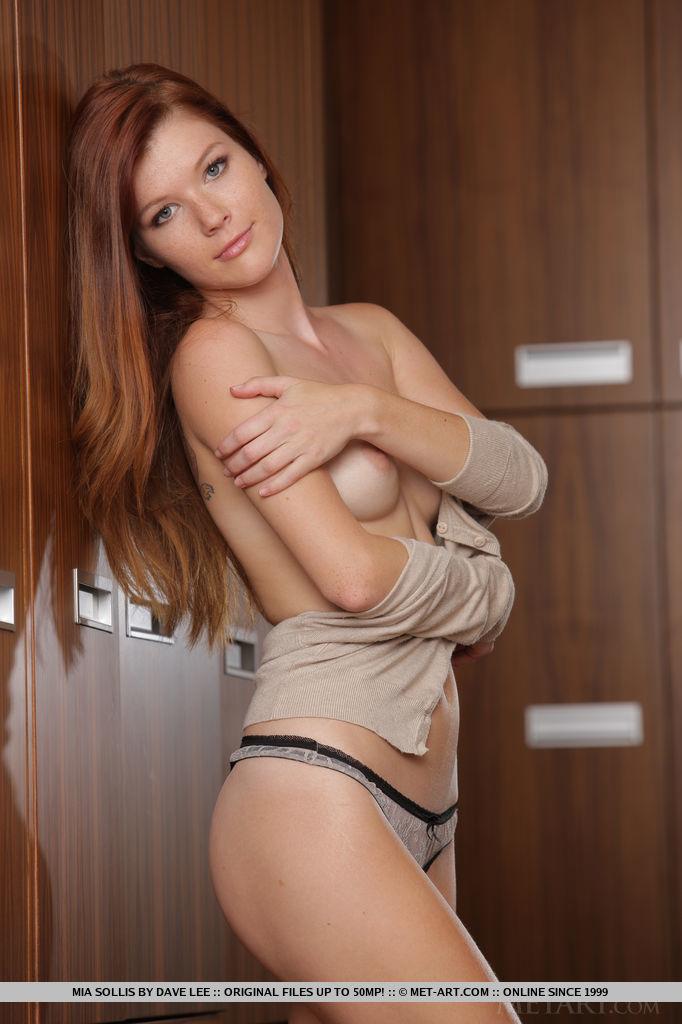 Mia Sollis in sensual photo sessions