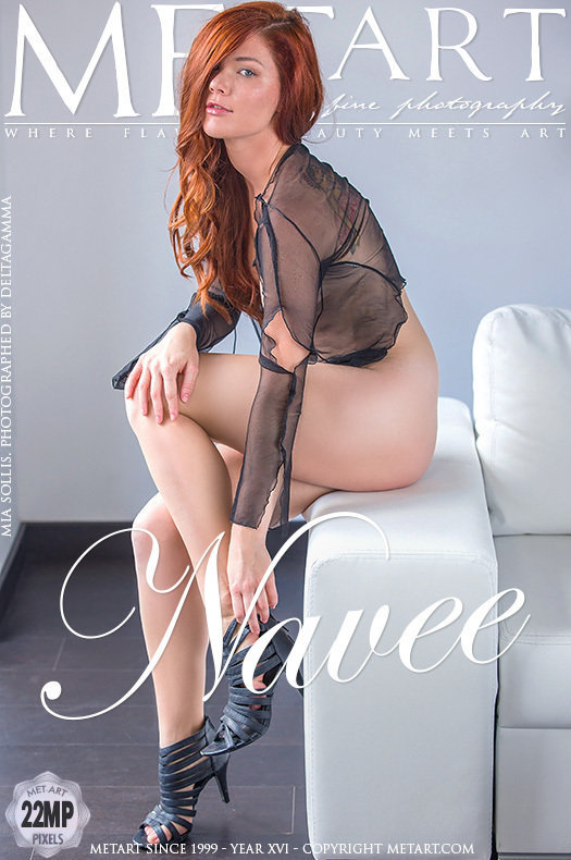 Magazine coverMia Sollis in one-s skin medium breasts