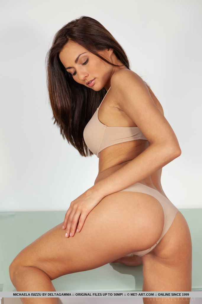 Michaela Isizzu in buck naked picture