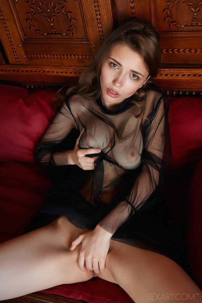 Best empyrean model Mila Azul in dishabille sessions
