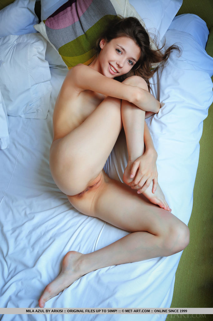 Best astounding model Mila Azul in in birthday suit sessions