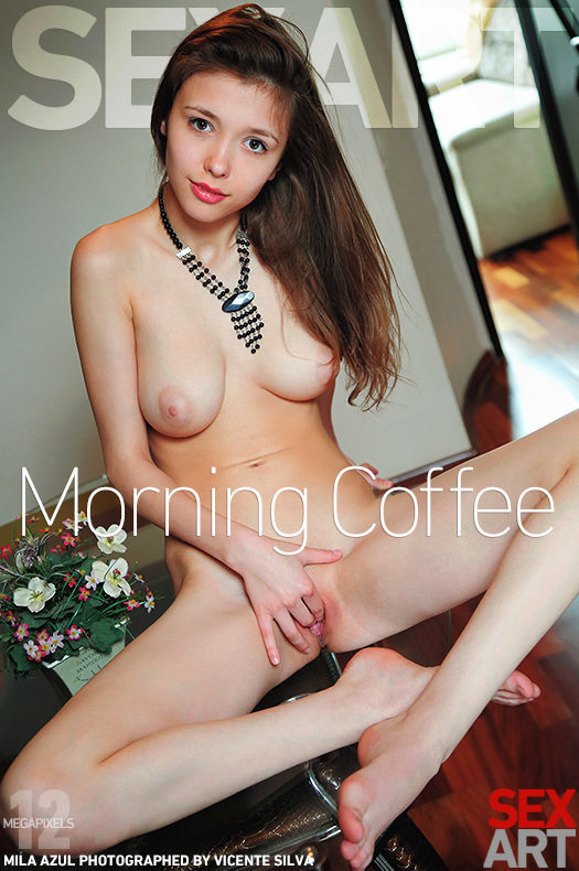 Magazine coverMila Azul large tits
