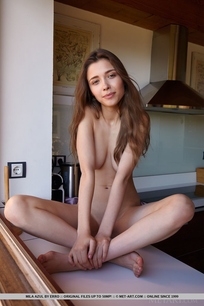 Best prodigious model Mila Azul in unclad sessions