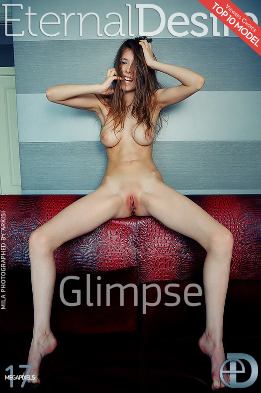 On the magazine cover of Glimpse Eternal Desire is spine-tingling Mila Azul